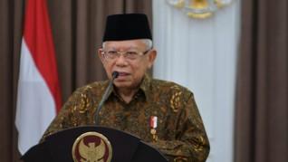 Ma'ruf Amin Disebut Diajak Berembuk Jokowi soal Reshuffle