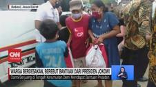 VIDEO: Warga Berdesakan, Berebut Bantuan dari Presiden Jokowi