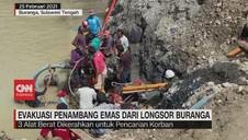VIDEO: Evakuasi Penambang Emas dari Longsor Buranga