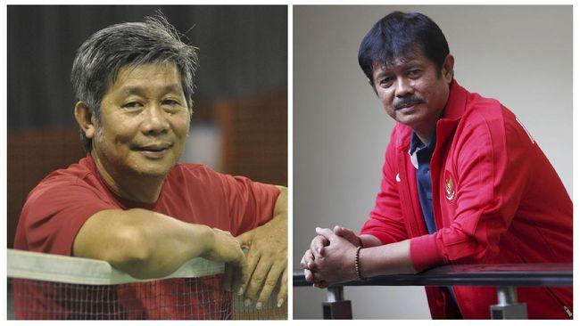 Dua pelatih kenamaan Indonesia, Indra Sjafri dan Herry IP, menceritakan vaksinasi Covid-19 di Istora Senayan, Jumat (26/2).