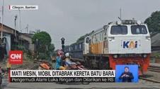 VIDEO: Mati Mesin, Mobil Ditabrak Kereta Batu Bara