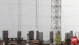 FOTO : Melongok Proyek Revitalisasi Pasar Senen
