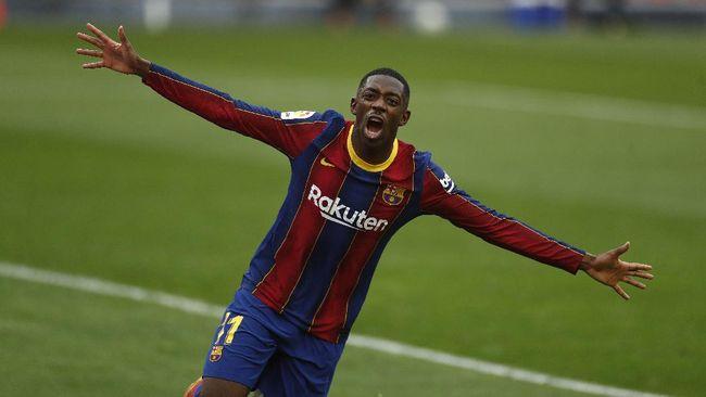 Barcelona berhasil mengalahkan Sevilla dalam laga Liga Spanyol di Stadion Ramon Sanchez Pizjuan, Sabtu (27/2).