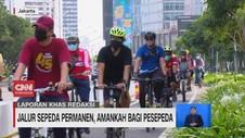 VIDEO: Jalur Sepeda Permanen, Amankah Bagi Pesepeda?
