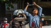 Sejauh ini sudah tujuh orang dinyatakan tewas dalam gelombang demonstrasi antikudeta di Myanmar.
