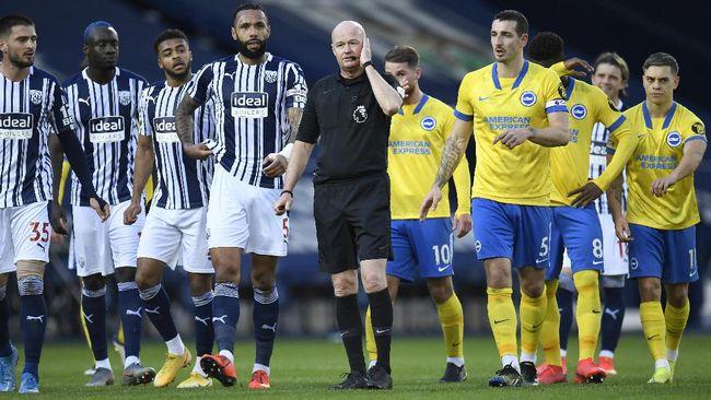 Brighton kalah 0-1 dari West Brom dan di laga Liga Inggris tersebut Brighton dua kali gagal penalti plus satu gl dianulir.
