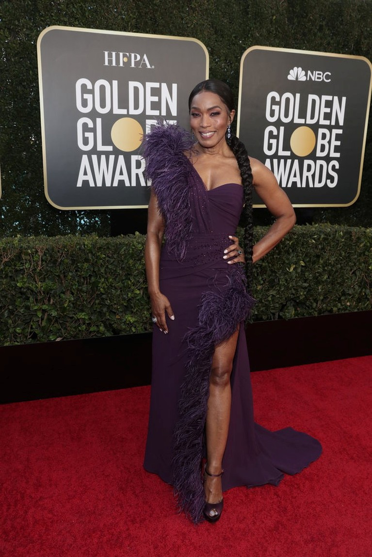 Actor Angela Bassett poses in this handout photo from the 78th Annual Golden Globe Awards in Beverly Hills, California, U.S., February 28, 2021. Todd Williamson/NBC Handout via REUTERS ATTENTION EDITORS - THIS IMAGE HAS BEEN SUPPLIED BY A THIRD PARTY. NO RESALES. NO ARCHIVES.