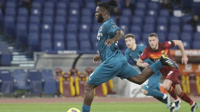 AC Milan berhasil menaklukkan AS Roma dengan skor 2-1 dan salah satu golnya berasal dari penalti Franck Kessie.