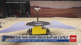 VIDEO: Gambar dari Mars Dikirim dengan Bantuan 5 Satelit