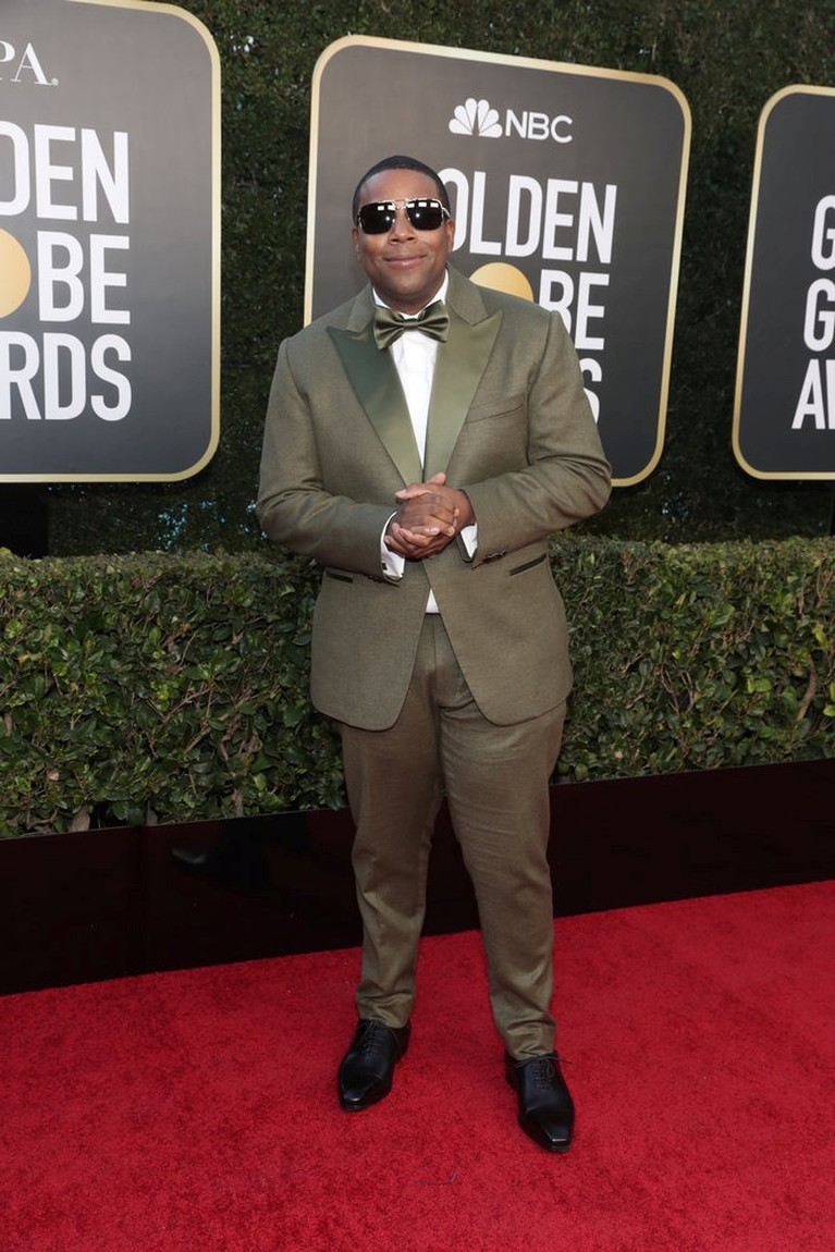 Actor Kenan Thompson poses in this handout photo from the 78th Annual Golden Globe Awards in Beverly Hills, California, U.S., February 28, 2021. Todd Williamson/NBC Handout via REUTERS ATTENTION EDITORS - THIS IMAGE HAS BEEN SUPPLIED BY A THIRD PARTY. NO RESALES. NO ARCHIVES.
