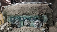 FOTO: Penampakan Kereta Kuda Kuno Pompeii di Italia