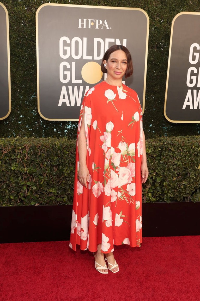 Actor Maya Rudolph poses in this handout photo from the 78th Annual Golden Globe Awards in Beverly Hills, California, U.S., February 28, 2021. Todd Williamson/NBC Handout via REUTERS ATTENTION EDITORS - THIS IMAGE HAS BEEN SUPPLIED BY A THIRD PARTY. NO RESALES. NO ARCHIVES.