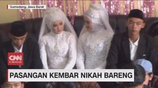 VIDEO: Pasangan Kembar Nikah Bareng