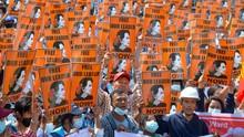 Ratusan Polisi Myanmar Ikut Demo Anti-Junta Militer