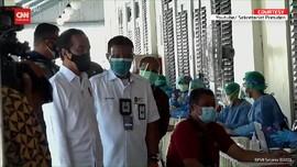 VIDEO: Jokowi Tinjau Vaksinasi Pedagang Kawasan Malioboro