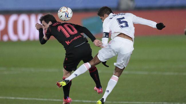 Real Madrid harus puas bermain imbang melawan Real Sociedad dalam laga Liga Spanyol, Selasa (2/3) dini hari WIB.