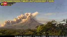 VIDEO: Detik-detik Erupsi Gunung Sinabung, Kolom Abu 5 Km