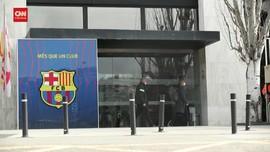 VIDEO: Polisi Geledah Stadion Barcelona Dan Amankan Barbuk