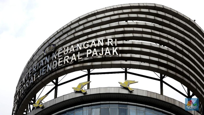 Gedung Kementerian Keuangan Dirjen Pajak. (CNBC Indonesia/Muhammad Sabki)