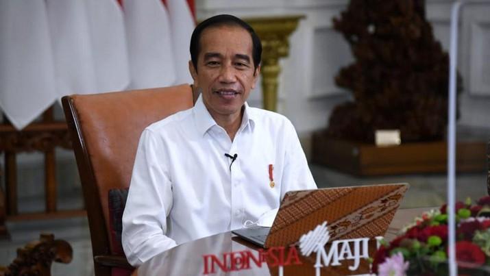 Presiden Jokowi Lapor SPT Tahunan PPh secara Daring. (Dok: Lukas - Biro Pers Sekretariat Presiden)