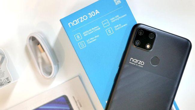 Realme umumkan harga dan spesifikasi Narzo 30a di Indonesia, ponsel game Rp1 jutaan.