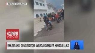 VIDEO: Rekam Aksi Geng Motor, Warga Dianiaya Hingga Luka