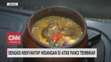 VIDEO: Sensasi Menyantap Hidangan di Atas Panci Tembikar