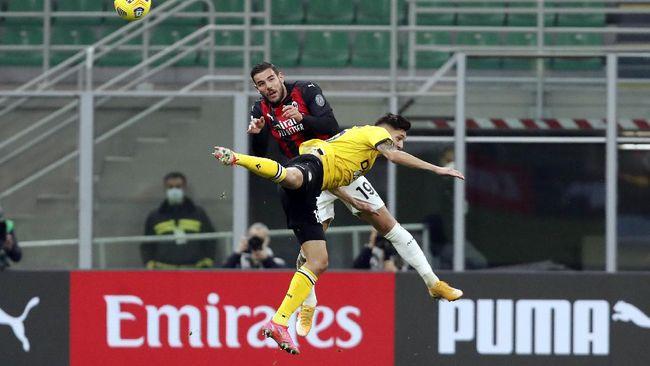 Penalti Franck Kessie di detik-detik akhir membuat AC Milan mampu menyamakan kedudukan menjadi 1-1 dalam duel lawan Udinese.