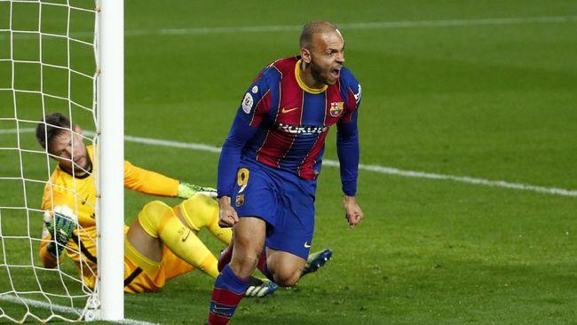 Ousmane Dembele dan Martin Braithwaite jadi pemain kunci Barcelona saat mengalahkan Sevilla 3-0 pada leg kedua semifinal Copa del Rey