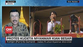 VIDEO: Protes Kudeta Myanmar Makin Besar