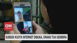 VIDEO: Subsidi Kuota Internet Dibuka, Orang Tua Gembira