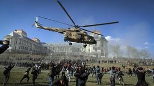 FOTO: Pameran Militer Afghanistan Ajang Unjuk Gigi ke Taliban