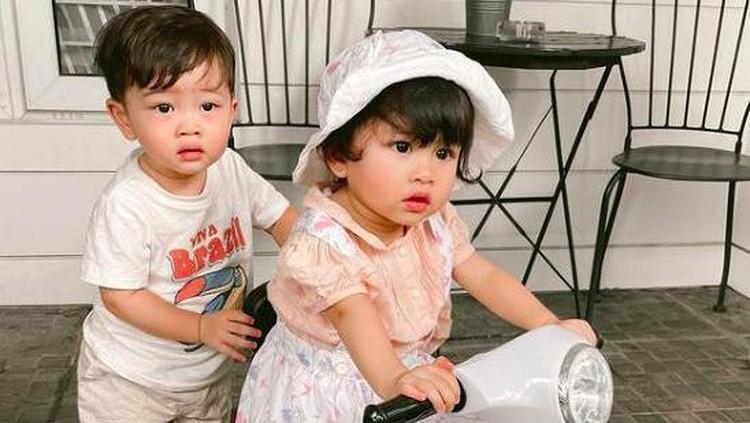 Syahnaz Sadiqah dan anak kembarnya