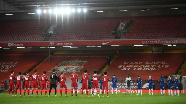 Liverpool menjadi tim yang lemah jika bermain di Anfield pada 2021 setelah dikalahkan Chelsea 0-1 pada lanjutan Liga Inggris.