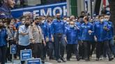 Ketua Umum DPP Demokrat Agus Harimurti Yudhoyono mendatangi Kemenkumham menyampaikan bukti-bukti yang membuktikan KLB Deli Serdang dan keputusannya tak sah.