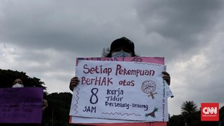 FOTO: Aksi Peringati Hari Perempuan Internasional di Jakarta