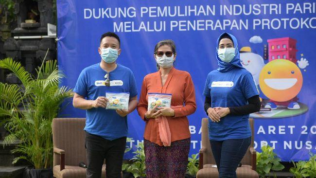 Antis menyediakan paket sanitizing kit yang dibagikan gratis kepada wisatawan untuk mendukung pemulihan sektor pariwisata melalui penerapan protokol kesehatan.