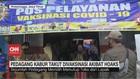 VIDEO: Termakan Hoax,Pedagang Pasar Kabur Saat Akan Divaksin
