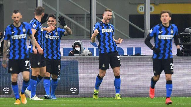 Inter Milan hanya membutuhkan lima kemenangan lagi guna memastikan gelar juara Liga Italia musim ini.