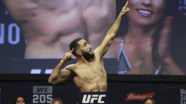 Petarung kelas welter UFC, Belal Muhammad, berencana mengibarkan bendera Palestina seusai pertarungan melawan Demian Maia.