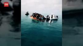 VIDEO: Dua Kapal Imigran Tenggelam, 39 Orang Tewas
