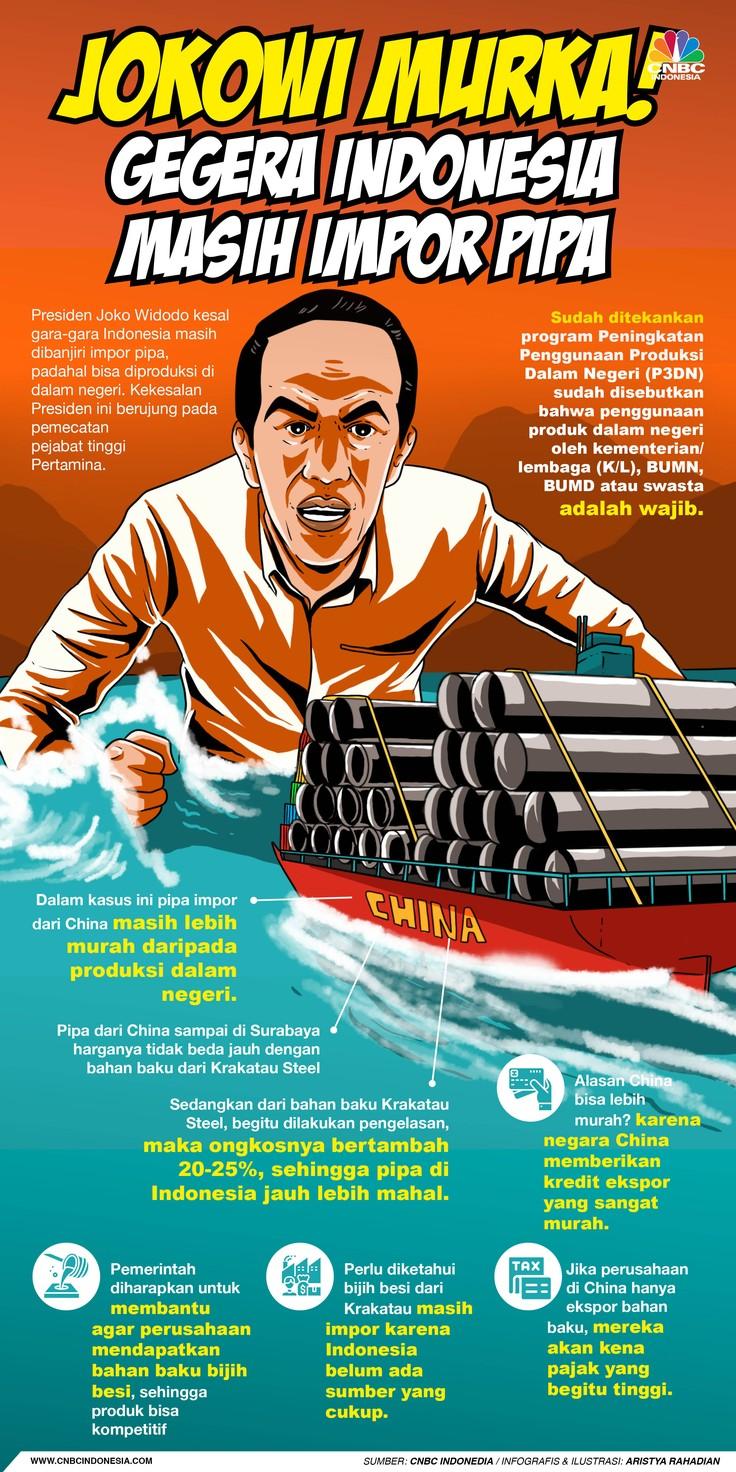 Infografis/Jokowi Murka! Gegara Indonesia Masih impor Pipa/Aristya Rahadian