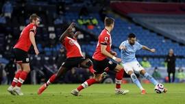 Hasil Liga Inggris: Man City Bungkam Southampton 5-2