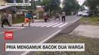 VIDEO: Pria Mengamuk Bacok 2 Warga di Banyumas