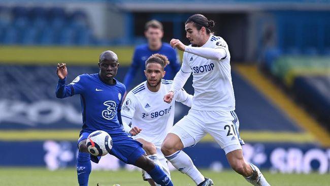 Chelsea dan Leeds United bermain imbang tanpa gol dalam lanjutan Liga Inggris di Stadion Elland Road, Sabtu (13/3).
