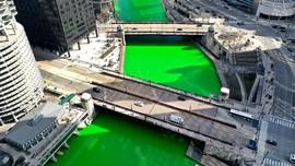 FOTO: Sungai di Chicago Jadi Hijau Jelang Hari St. Patrick