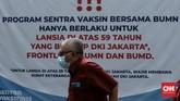 Vaksinasi Covid-19 masih berlangsung di Istora Senayan, Jakarta pada Minggu (14/3). Sepekan berjalan sejak 8 Maret lalu, total ada 35.840 penerima vaksin.