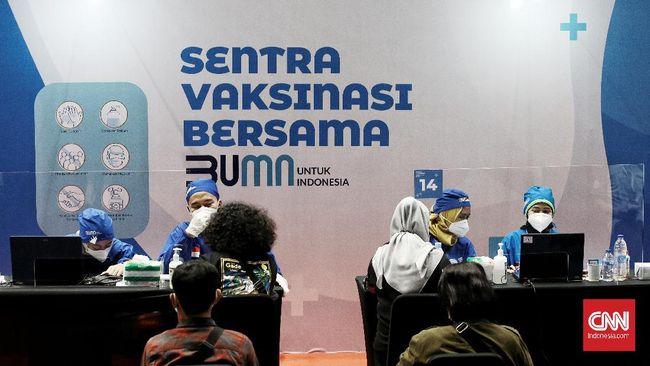 Tak hanya di Jakarta, Sentra Vaksinasi Covid-19 Bersama BUMN juga diadakan di Semarang, Banyumas, serta Surabaya.