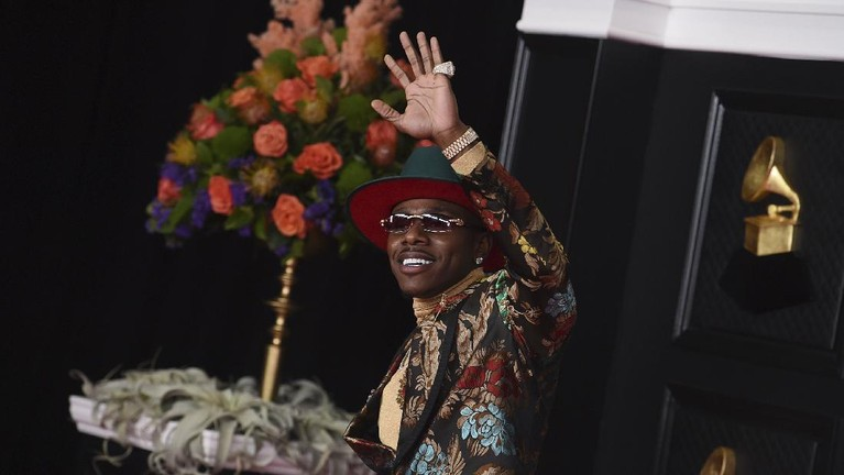 DaBaby arrives at the 63rd annual Grammy Awards at the Los Angeles Convention Center on Sunday, March 14, 2021. (Photo by Jordan Strauss/Invision/AP)