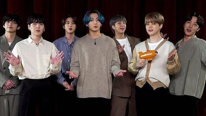 BTS Gaet 3 Kemenangan Sekaligus dalam Nickelodeon Kids Choice Awards 2021